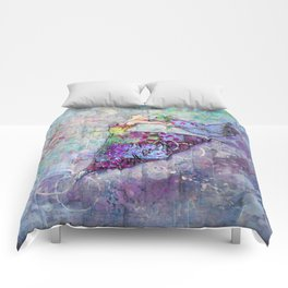 The Brenda - Dancing Queen Mixed Media Art Comforters