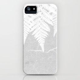Fern fringe - concrete iPhone Case