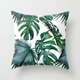 Tropical Palm Leaves Classic Throw Pillow