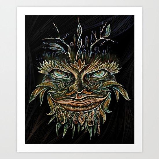Forest Elemental Color Art Print