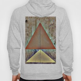Warm Triangles on Found Wood Paneling Hoody