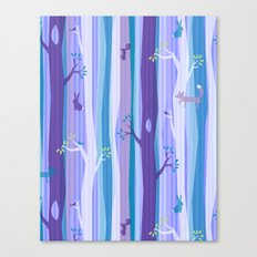 Purple Woodland Stripe Canvas Print