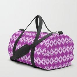 shibori kaleidoscope in grape Duffle Bag
