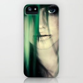 Girl In Leaves iPhone Case
