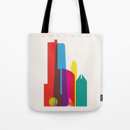 Shapes of Chicago. Accurate to scale Tote Bag