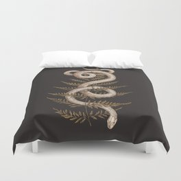 The Snake and Fern Duvet Cover