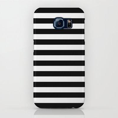 Modern Black White Stripes Mon...