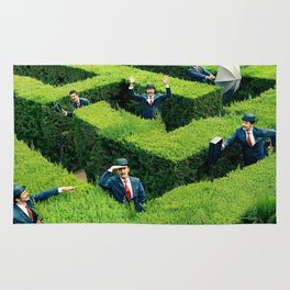 Funny man in Maze Rug
