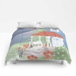 Spring in Moominvalley Comforters