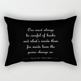 Words have the power to change us - Tessa Gray BLACK Rectangular Pillow