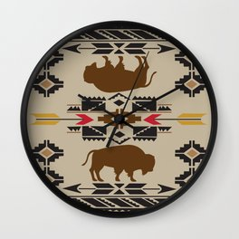 American Native Pattern No. 180 Wall Clock