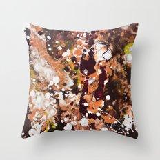 Tabby Cat Orange & Dark Chocolate Brown [Kate Jones] Throw Pillow
