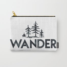 WANDER Forest Trees Black and White Carry-All Pouch