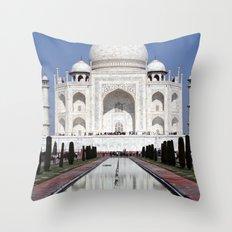 Taj Mahal II Throw Pillow
