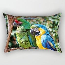 Macaw Parrots Rectangular Pillow