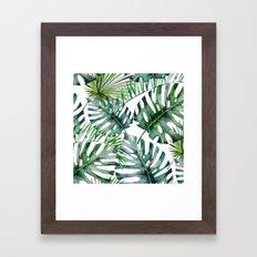 Monstera Overload Framed Art Print