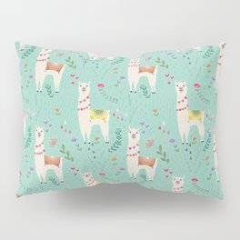 Festive Llama Pillow Sham