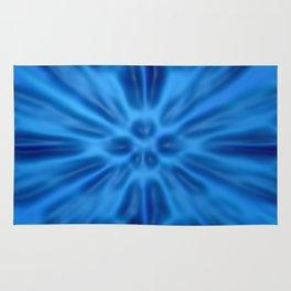 Blue plastification Rug