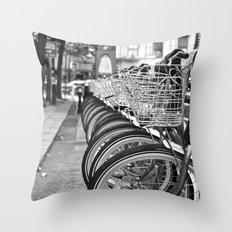 Bike Rack in Dublin Throw Pillow