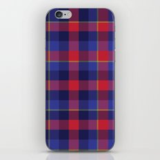 Red and Blue plaid iPhone & iPod Skin