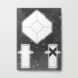 Hollow Artifacts I: Core Crystals Metal Print