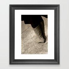 A Lady's Boots Framed Art Print