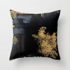 mission olive Throw Pillow