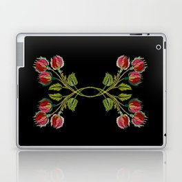 Embroidered Scandi Flowers Laptop & iPad Skin