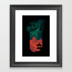 Final Frontiersman Framed Art Print