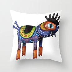 Turtle Chicken Horse Throw Pillow