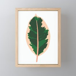 Rubber Tree Leaf Framed Mini Art Print