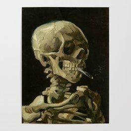 Vincent van Gogh - Skull of a Skeleton with Burning Cigarette Poster