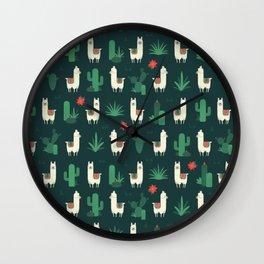 Fleece Navidad and Cactus Wall Clock