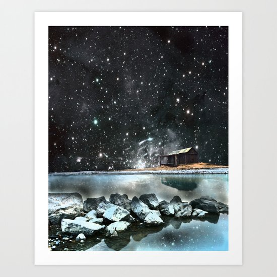 house by the sea Art Print