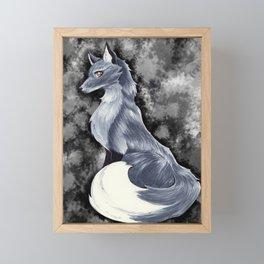Silver Fox Framed Mini Art Print