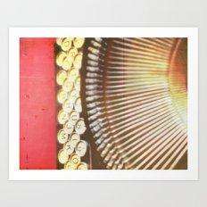 Remy. Typewriter photograph print Art Print