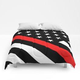 Firefighter: Black Flag & Red Line Comforters
