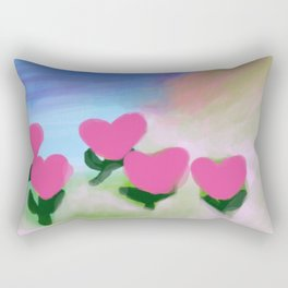 Hearts from a Rose Pink Rectangular Pillow