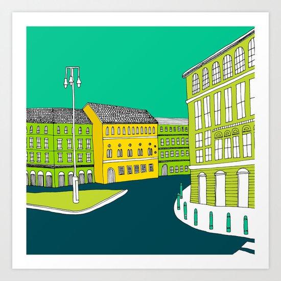 CITY CENTRE // TOWN Art Print