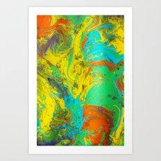 Gravity Painting 4 Art Print