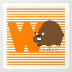 w for wombat Art Print