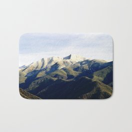Ojai Valley With Snow Bath Mat
