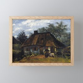Vincent van Gogh Farmhouse in Nuenen Framed Mini Art Print