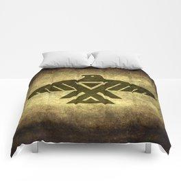Symbol of the Anishinaabe, Ojibwe (Chippewa) on  parchment Comforters