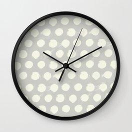 Spotsy-Gray Wall Clock