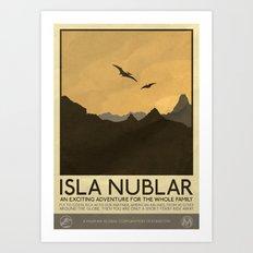 Silver Screen Tourism: Isla Nublar / Jurassic Park World Art Print