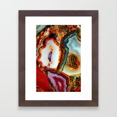 Agate, the Layers of our Earth Framed Art Print
