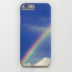 Rainbow over fluffy white clouds in the blue sky Slim Case iPhone 6s