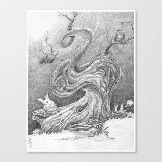 Magic Tree Night Canvas Print