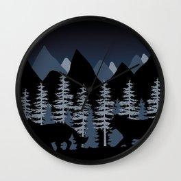 Running Wolves Wall Clock